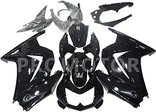 ZXMT Motorcycle Fairing Kit Injection Fairings for Kawasaki Ninja 250 EX 250R ZX250 2008 2009 2010 2011 2012 Gloss Black - (Pieces/kit: 15)