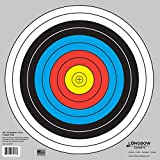 Archery 40cm & 80cm Targets by Longbow (50 Pack, 40cm/Approx 17' (10 Ring))