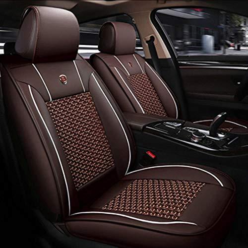 LUOLONG Auto-Sitzabdeckung, Universal Leder-Auto-Sitzbezüge Für Buick Excelle Enclave Gl6 Null Velite 5 Envision Encore Gl8 Verano Park Avenue, Kaffee