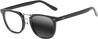 Multifocal Progressive Photochromic Mens Retro Acetate Wooden Reading Glasses Custom +1.0~+3.0