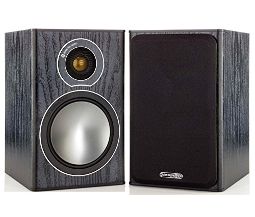 MONITOR AUDIO Bronze 1 Regallautsprecher, 1 Paar Black Oak