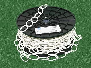 TC Decorator Chain, WELDLESS Chain, 50' FEET Reel/ROLL (50 Feet, White)
