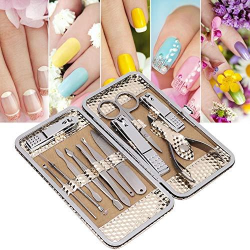 Ensemble de manucure 12 en 1, ensemble de coupe-ongles professionnel en acier inoxydable Kit d'outils de manucure pour les ongles Kit de beauté pédicure
