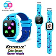 "Best Kids Smart Watch - Our kids smartwatch is specially designed for 4 to 12 years old children, with 1.54"" IPS touch screen, kids-friendly band, built-in games, rotatable camera, perception time, FM radio, flash light, pedometer, calories, support ..."