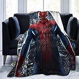 XZHYMJ Couverture Polaire Couverture Spiderman Couverture Chaude Super Douce pour Adulte avec Flanelle Anti-Boulochage Douce pour Enfants Adultes - 50 X 40 po