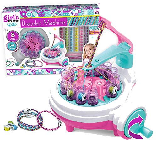 TOMUTO GIRLS FRIENDSHIP BRACELETS MAKER - A BRACELET MAKER which can create beautiful bracelets with multiple designs and comes with clear step by step color instructions. Suitable for kids 6 & above.