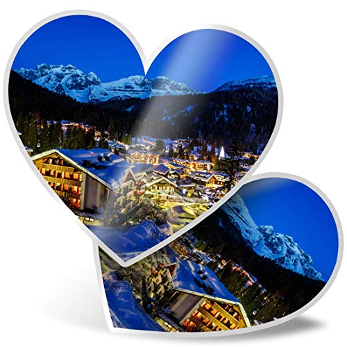 Impresionante pegatinas de corazón de 7,5 cm – Esquí Madonna Di Campiglio Skiing Fun calcomanías para portátiles, tabletas, equipaje, libros de chatarra, frigorífico, regalo genial #24206