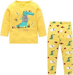 BOBORA Short B/éb/é Gar/çon Pantalon en Coton avec Empreintes de Dinosaures d/ét/é pour Gar/çon Enfants 2-6Ans