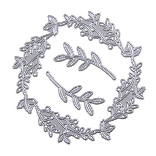 MagiDeal Fustelle di Metallo di Natale Scrapbooking DIY Cartoncini Sagomati Artigianato Ballerina Fiore Candela Stella - 8