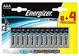 Energizer - Pilas alcalinas MAX Plus AAA LR03, 12 undiades, Alta tecnologia y Rendimiento