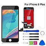 BuTure Pantalla Táctil LCD para iPhone 8 Plus 5.5', Pantalla para iPhone 8 Plus con Herramientas de reparación y Protector de Pantalla (Negro)