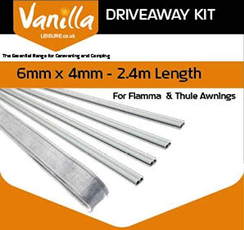 Vanilla Leisure - Kit para toldos Thule Omnistore y Fiamma (6-4 mm, 2,4 m)