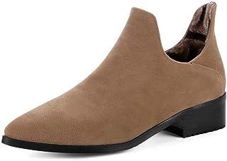 BalaMasa Womens Structured Nubuck Casual Urethane Pumps Shoes APL10717