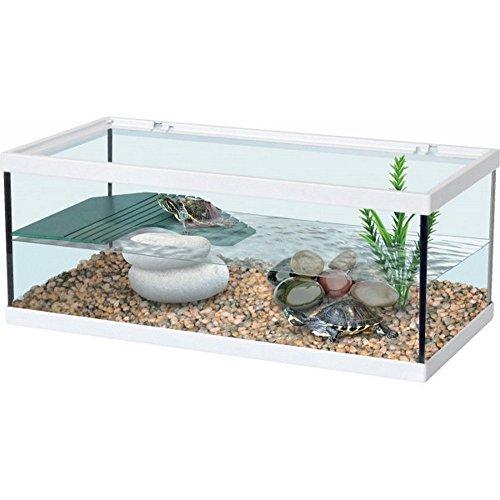 Tartarughiera turtle tank bianca 40x20x18h