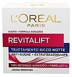 L'Oréal Paris Crema Viso Notte Revitalift, Azione Antirughe Extra-Rassodante con Pro-Reti...