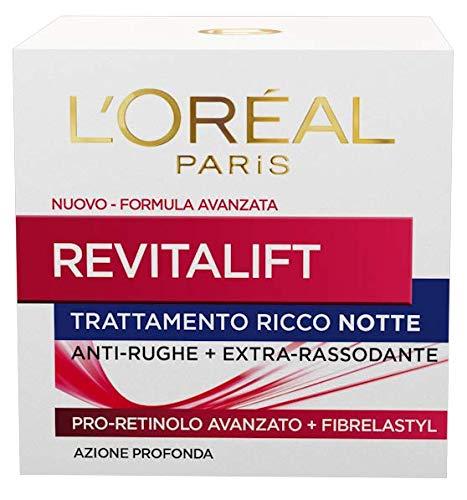 L'Oréal Paris Dermo Expertise Soin Revitalift Crema Viso Anti-Rughe Notte, Formula con Pro-Retinolo Avanzato e Fibrelastyl, 50 ml