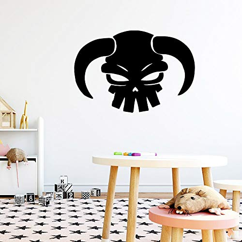 wZUN Etiquetas engomadas Divertidas de la Pared de la Historieta de la Cabeza del Toro para Las Etiquetas del Arte de la Pared del Fondo de la habitación de los niños 42X61cm