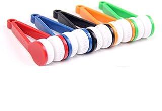Mini Bril Brush Cleaning Tool, 5PCS Ultra-soft twee-side zonnebril borstel microfiber lenzenvloeistof schoonmaakborstel hu...