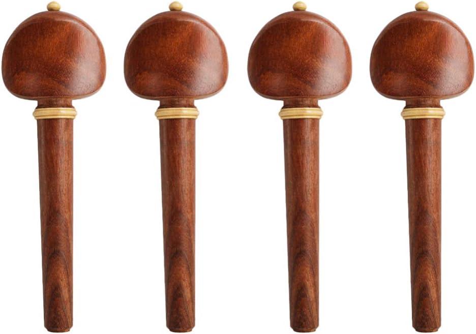 SUPVOX 4pcs Cello Pegs Luxury goods Ebony Tuning Branded goods Rosewood Musical Instru