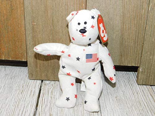 Generic - Tiny TY Stuffed Star Bear Glory 1993 5 1/2 in, Vintage Stuffed Star Teddy Bear, Vintage Stuffed Animals, Vinta