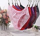 LSNLNN Ropa Interior Erótica, Ropa Interior Sexy Mujeres Tanga Delgada Extremadamente Seducción Hueca Sexy Ropa Interior,Vino Rojo