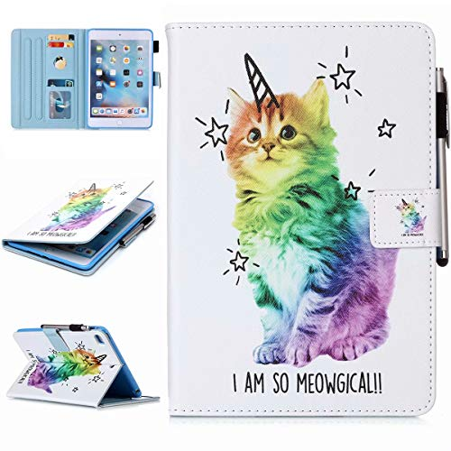 AKHIOK iPad 10.2 2019 7th Generation Case, iPad Air 3 2019 / Pro 10.5 Case, Slim Folio Protective Case Cover with Kickstand Auto Wake/Sleep for iPad 10.2 Inch, Air 3 2019, Pro 10.5, Magic Cat
