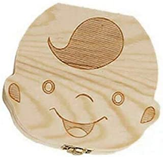Muchacha VANKER 1 PC Imagen Madera Personalizado Baby Dientes Deciduous Souvenir Caja
