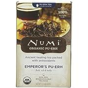 Numi Organic Tea Emperor's Puerh, Full Leaf Black Tea