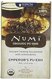 Numi Organic Tea Emperor's Pu-erh, Full Leaf Black Pu-erh Tea,...