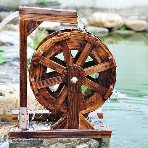 Tauzveok Wasser-Rad-Brunnen-Patio-Garten Wasser-Eigenschaft Feng Shui Räder Yard im Freien dekorativen 30cm Springbrunnen für Wasser-Funktion,S
