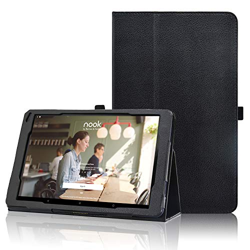 Nook 10.1 Tablet Case BNTV650 2018 Release, ACdream Premium Folio PU Leather Tablet Cover Case for Barnes & Noble Nook 10.1 Tablet with Auto Wake Sleep Feature, (Black)
