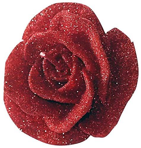 Ten Candela Fiore Rosa Rossa cod.EL32044 cm 8,5x8,5x5,8h by Varotto & Co.