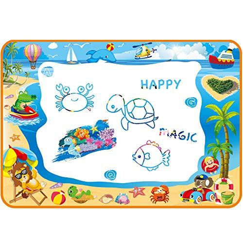 Water Doodle Mat for Toddler - Aqua Magic Mat Provides Hours of Fun - Perfect Magic Water Drawing Mat for Girls Age 3-4 - Exciting Aqua Doodle Mat for Kids - Coloring Water Drawing Pad for Toddlers