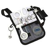 ASA Techmed Medical Belt Utility Kit, Nurse Pro Pack Pocket Organizer Pouch Hip Bag | EMT, CNA, NP, PA, Student, Nurse Kit (White)