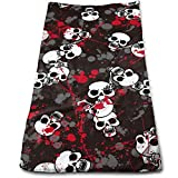 Bloody Skull Multi-Purpose Microfiber Towel Ultra Compact Super Absorbent and Fast Drying Sports Towel Travel Towel Beach Towel Perfect for Camping, Gym, Swimming.