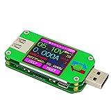kkmoon RD um24C USB 2.0LCD-Farb-Anzeige-Tester, Spannungs-/Strommessgerät, Voltmeter, Amperemeter, Batterieladekabel-Impedanz-Messer, Kommunikations-Version