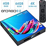 Android TV Box,2019 Updated Smallest Android Box Amlogic Quad Core 64 Bits 2GB RAM 16GB ROM WiFi/4K Ultra HD/3D/H.265 Pendoo X8 Mini Smart TV Box