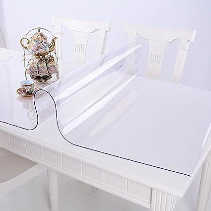 Ertex Tischdecke Tischfolie Schutzfolie Tischschutz Folie Transparent 2 5 Mm 1a Qualität Geeignet Für Den Kontakt Mit Lebensmitteln 90 X 180 Cm Amazon De