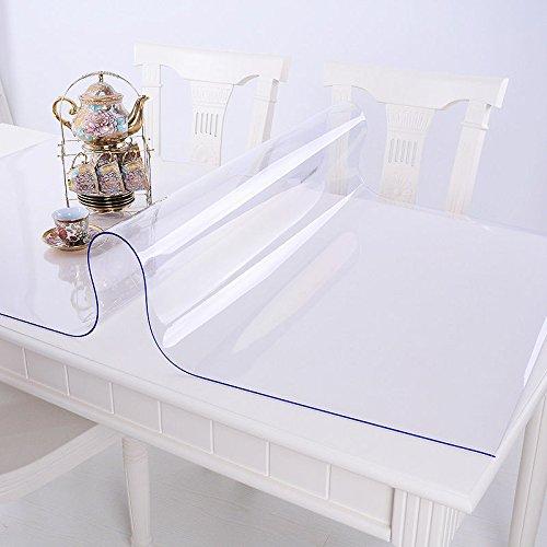 Ertex Tischdecke Tischfolie Schutzfolie Tischschutz Folie Transparent 2,5 mm 1A Qualität geeignet für den Kontakt mit Lebensmitteln (80 x 120 cm)
