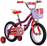 Schwinn Elm Girls Bike for Toddlers and Kids, 14-Inch Wheels, Purple