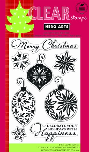 Hero Arts Rubber Stamps Decorate Your Holidays Clear Stamp Set