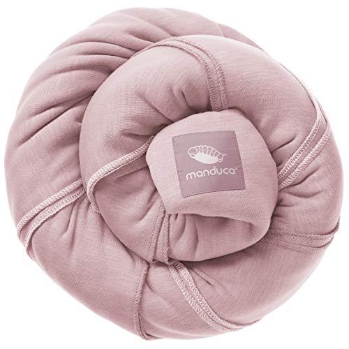 manduca Sling > Rose < Elastisches Babytragetuch mit GOTS Zertifikat 100% Bio-Baumwolle 3 Binde-Anleitungen (Bauchtrage, Wickelkreuztrage, Hüfttrage) für Neugeborene & Babys ab Geburt, rosa