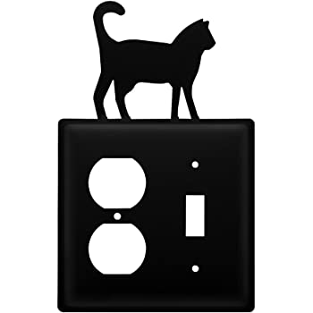 Heavy Duty Metal Light Switch Cover Wall Plate Cover Electrical Outlet Covers Lightswitch Covers Iron Cat Outlet Cover