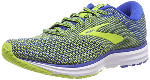 Brooks Revel 2, Scarpe da Running Uomo, Multicolore (Blue/Lime/White 404), 41 EU