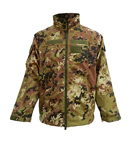 OUTLET MILITARY Giacca Militare Termico Impermeabile Vegetato Mimetico (XL)