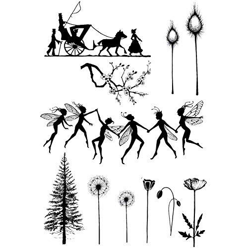 POPQX Tanzen Feen Und Baum Transparent Klare Stempel Für DIY Scrapbooking/Karte, Der/Kinder Weihnachten Spaß Dekoration Liefert