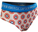MJC Women's Marvel Comics Captain America Cheeky Panty (Large) White