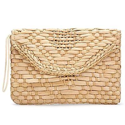 JOSEKO Clutch Purses for Women, Tassel Straw Handbag Vintage Handwoven Bag Summer Beach Bag