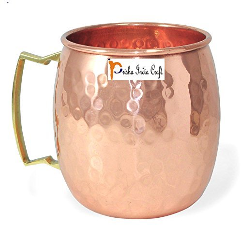Stylla London Prisha Inde Craft Moscow Mule Mug, Cuivre, Marron, 4.33 x 4.25 x 4.25 cm
