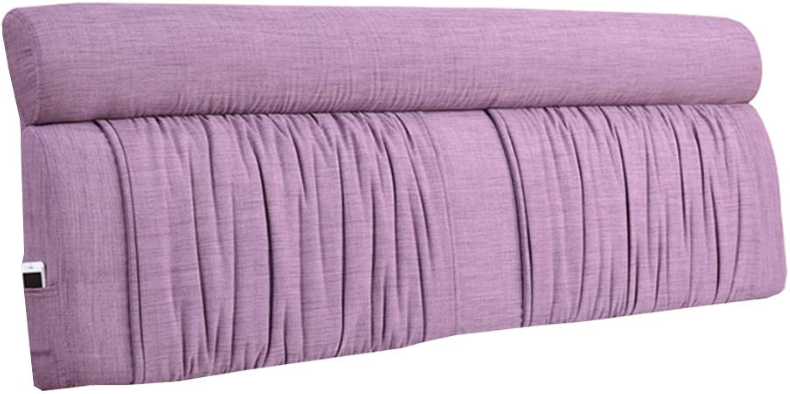 KKCF-Coussins de chevet Taille Prougeectrice Anti-Statique Lis Détachable Chambre Lin, 5 Couleurs 8 Tailles (Couleur   A, Taille   120x60x12cm)
